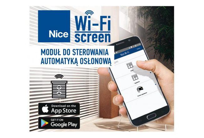 Nowość - moduł Nice Wi-Fi screen do sterowania  automatyką osłonową