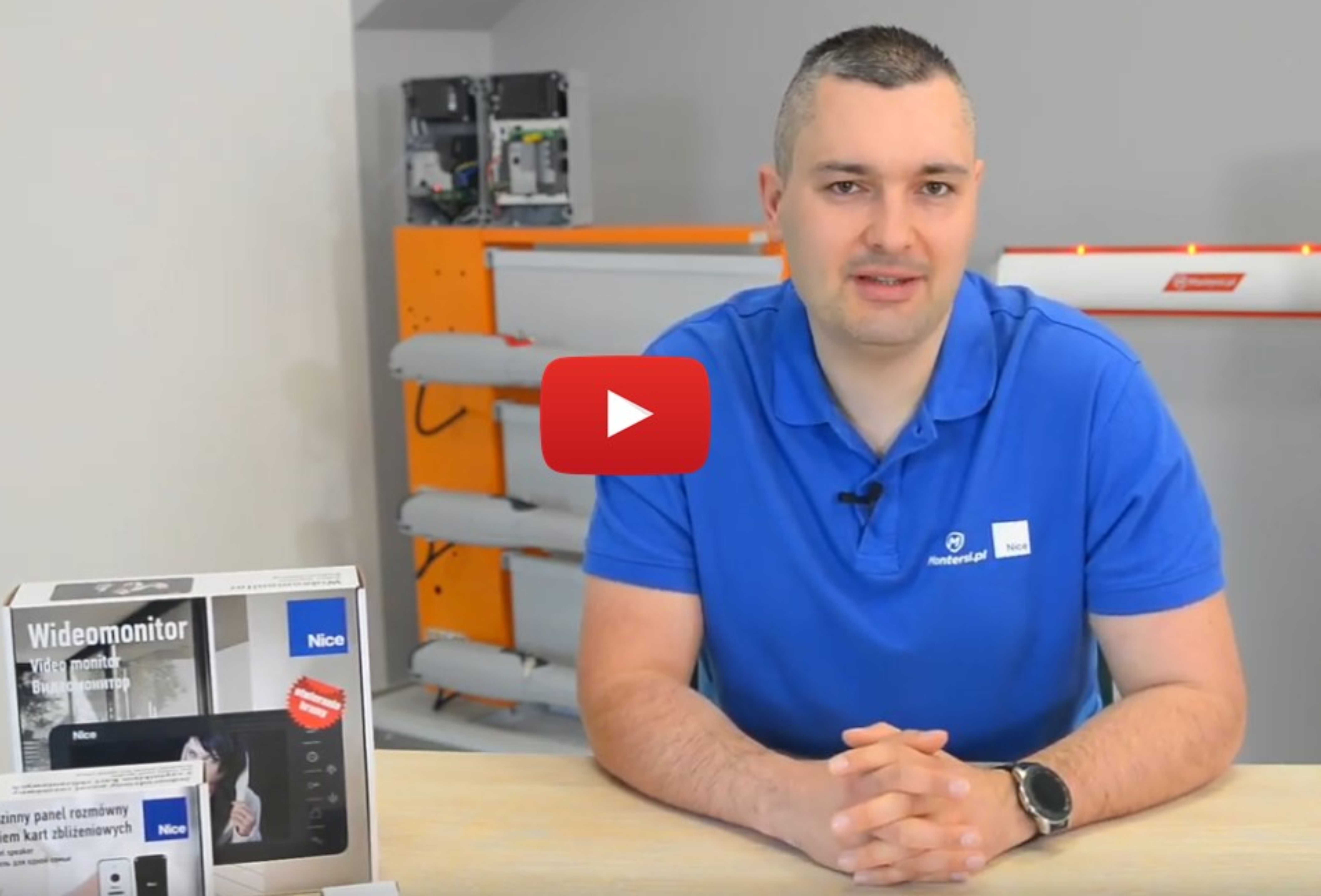 Jak zintegrować wideodomofon z napędem Nice?
